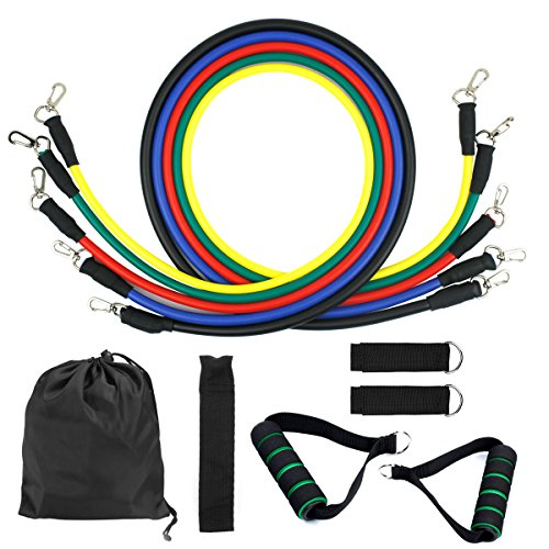 ac6f7fe9ca16 Dokpav Resistance Bands, Exercise Bands Include 5 Different Levels ...
