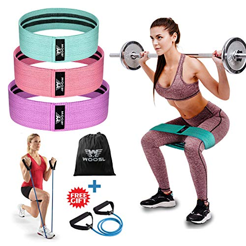 Workout Bands Booty: WOOSL Resistance Bands Loop Exercise Bands Booty Bands