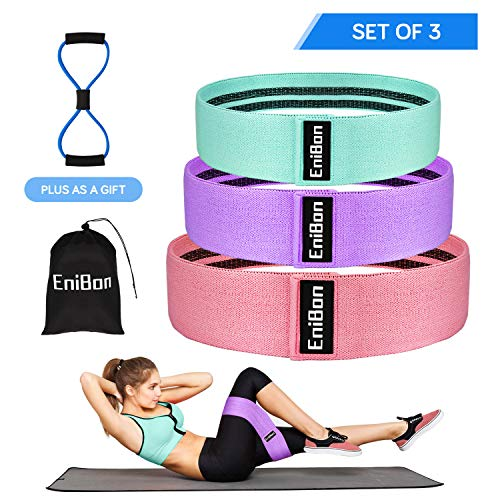 480eb6d69384 EniBon Resistance Bands for Legs and Butt Set, Fabric Resistance Loop Bands  for Exercise, Body Shaping, Strength Training, Anti -Slip Elastic Glute  Bands, ...